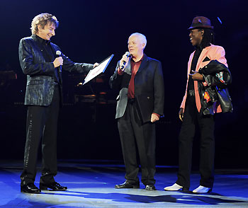 Barry Manilow, Bruce Spotleson, and Kye Brackett