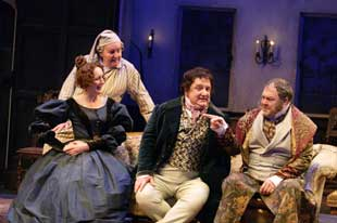 Richard Briers, Fiona Shaw, Simon Russell Beale,and Mark Addy in London Assurance
