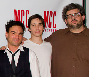 Johnny Galecki, Justin Long, and Neil LaBute