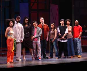 The cast of Russell Simmons Def Poetry Jam on Broadway(Photo: Pat Johnson)