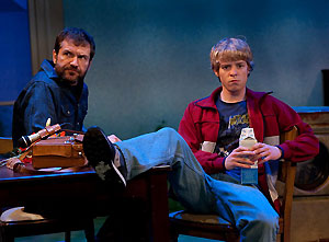 Stevie Ray Dallimore and Ben Hollandsworth in Dreams of the Washer King (© Erik Pearson)