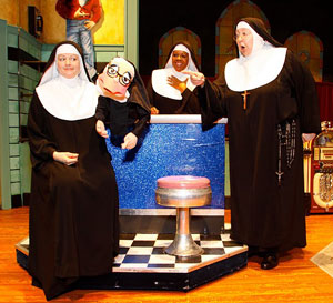 Jeanne M. Tinker, Bambi Jones, and Bonnie Lee in Nunsense
