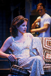 Margaret Colin with Chad Allenin Temporary Help(Photo: © Joan Marcus)
