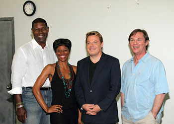Dennis Haybert, Afton C. Williamson, Eddie Izzard, and Richard Thomas