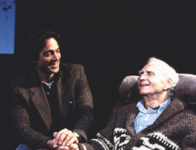 Jon Tenney and Alvin Epstein in Tuesdays with Morrie