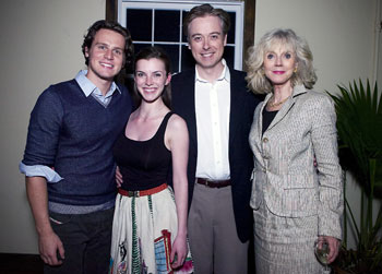 Jonathan Groff, Betty Gilpin, Mark Shanahan, and Blythe Danner