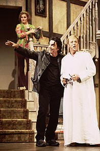 Faith Prince, Peter Gallagher, and Edward Hibbert in Noises Off, whichoriginally required two intermissions(Photo: © Joan Marcus)