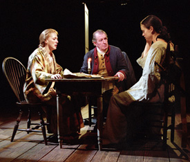 Kate Kearney-Patch, Corin Redgrave, and Yvonne Woodsin The General From America(Photo: Charles Erickson)