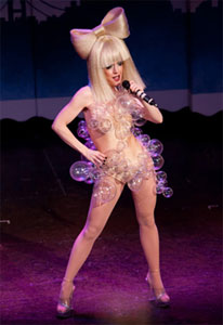 A Beach Blanket Babylon cast member