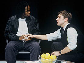 Harold Perrineau, Jr. and Glenn Fitzgeraldplay patient and doctor in Blue/Orange