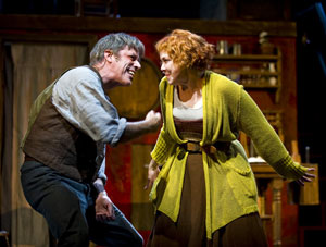 Jeff McCarthy and Harriet Harris in Sweeney Todd