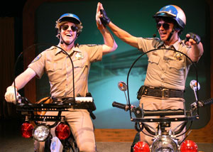 Matt Walker and Rick Batalla in CHiPS the Musical