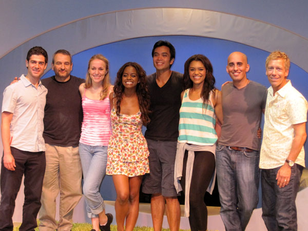 Adam Kantor, Joe DiPietro, Jennifer Blood, Krystal Joy Brown, Jose Llana, Sasha Sloan, Nehal Joshi, and Bret Simmons