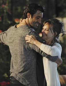 Gilles Marini and Sally Fieldin Brothers & Sisters