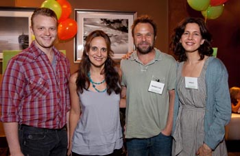 Bruce Bluett, Liz Tuccillo, Nortbert Leo Butz and Jessica Hecht