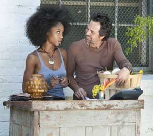 YaYa DaCosta and Mark Ruffalo in The Kids Are All Right
