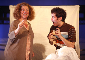 Mary Testa and Jacob Hoffman in I'll Be Damned