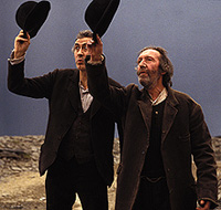 Hats off to a theater legend:Barry McGovern and Johnny Murphy inBeckett's Waiting for Godot 