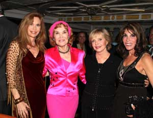 Mary Crosby, Kathryn Crosby, Florence Henderson, and Kate Linder