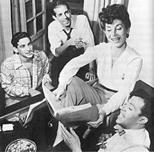 Leonard Bernstein, Jerome Robbins,Betty Comden, and Adolph Greenat the time of the creation of On the Town