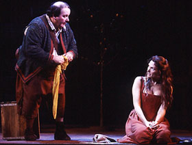 Ernie Sabella and Mary Elizabeth Mastrantonioas Sancho Panza and Aldonza(Photo: © Joan Marcus)