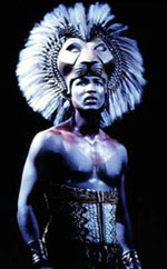 Clifton Oliver in The Lion King(Photo: © Joan Marcus)