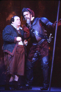 Brian Stokes Mitchell (r) and Ernie Sabellain Man of La Mancha(Photo: © Joan Marcus)