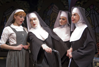 Amy Rutberg, Charles Busch, Alison Fraser, and Julie Halston in The Divine Sister (© David Rodgers)