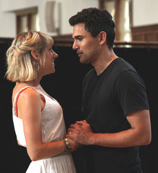 Charlotte Parry and Ivan Hernandez in rehearsal for Pirate (© Vassar College/Buck Lewis Photography)