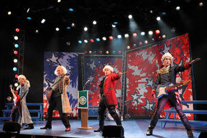 Jamie LaVerdiere, Abe Goldfarb, F. Michael Haynie, and