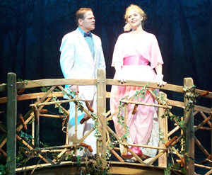 Scott Wahle and Sarah Pfisterer in The Music Man