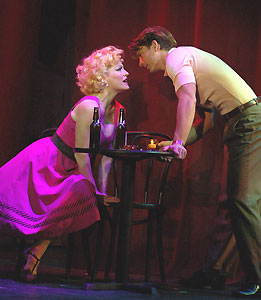 Felicia Finley and Austin Miller in Damn Yankees