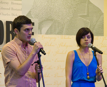 "Wesley Taylor and Krysta Rodriguez singing ""Crazier Than You""