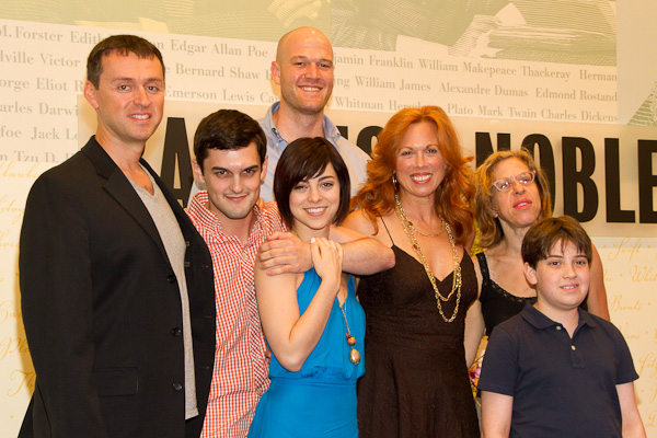 L to R: Andrew Lippa, Wesley Taylor, Zachary James, Krysta Rodriguez,