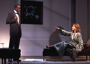 Ato Essandoh and Margaret Colin in Six Degrees of Separation (© T Charles Erickson)