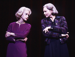 Smile when you say that!Swoosie Kurtz and Cherry Jones in Imaginary Friends(Photo: © Joan Marcus)