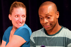 Kelly Nichols and Marvin Riggins Jr. in