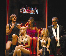 Eric Elice, Linda Halaska, Mary Birdsong, Jeannie Berlin, and Danny Aiello in Adult Entertainment(Photo © Nancy Ellison)