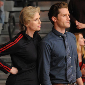 Jane Lynch and Matthew Morrison
