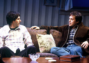 Home is where the mind is:Josh Hamilton and Rob Campbell in Gone Home(Photo: Joan Marcus)