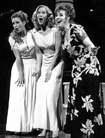 Sarah Uriarte Berry, Rebecca Luker,and Debbie Gravitte in the Encores! productionof The Boys From Syracuse