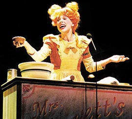 Christine Baranski plays meat pie maker Mrs. Lovett in theL.A. Reprise! production of Sweeney Todd