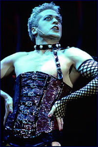 Take a bite out of this Frank 'N' Furter:Tom Hewitt in The Rocky Horror Show