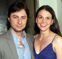 Zach Braff and Sutton Foster