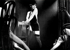 Liza Minnelli in the highly regarded film versionof the Kander and Ebb classic Cabaret