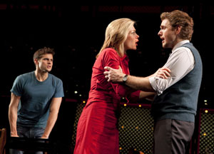 Kyle Dean Massey, Marin Mazzie, and Jason Danieley