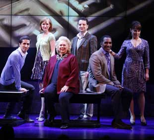 Matthew Scott, Erin Mackey, Barbara Cook, Euan Morton, Norm Lewis, and Leslie Kritzer in Sondheim on Sondheim