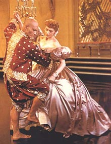 Deborah Kerr teaches Yul Brynner to dancein the film version of The King and I