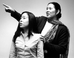 Colleen Parker and Meg Tapucol-Provostar in The Joy Luck Club