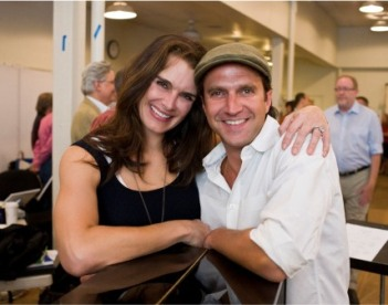 Brooke Shields and Raul Esparza at rehearsal